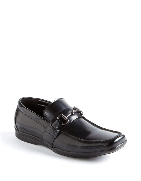 kenneth cole reaction loafers kenneth cole reaction plane side leather loafers in black