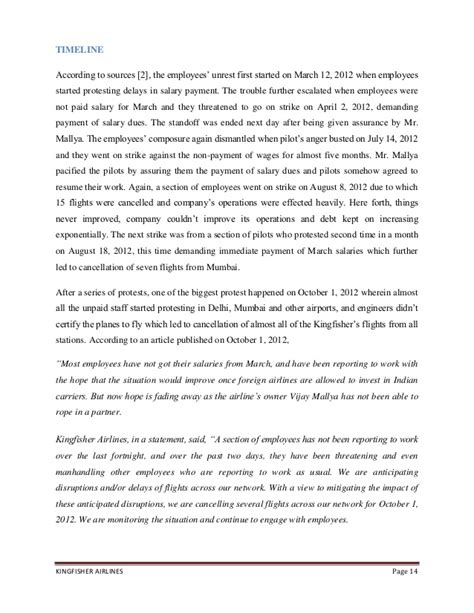 Complaint Letter For Late Salary Kingfisher Airlines Pending Salaries Downsizing Issues