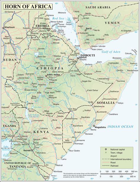 horn of africa map horn of africa map