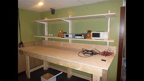 diy lab bench  shelves pt  bench youtube