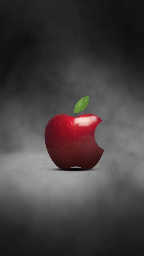 wallpaper apple red red apple logo 02 iphone wallpapers iphone 5 s 4 s 3g
