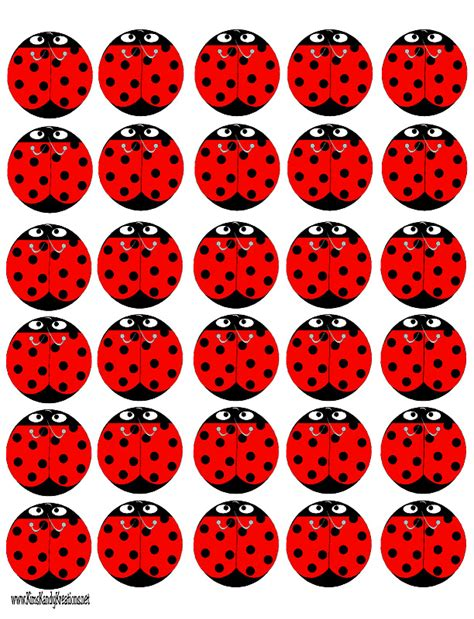 printable ladybug images lady bug peppermint patties free printable everyday parties