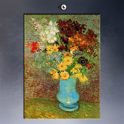 2015 flowers in a blue vase by gogh by vincent