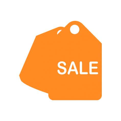 orange sales sales tag icon free icons easy to and use