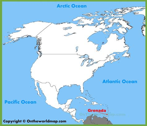 where is grenada located on a world map grenada location on the america map