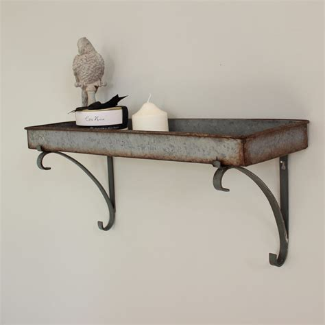 grey metal wall shelf melody maison 174