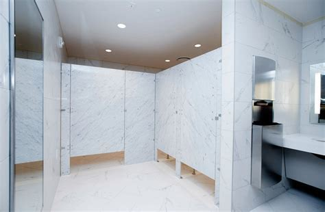 Natural Stone Panel Restroom Partitions   StonePly