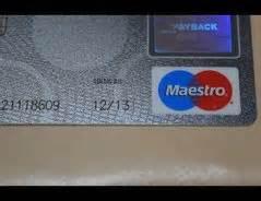 cc bank kredit karte what is cvv in maestro debit card