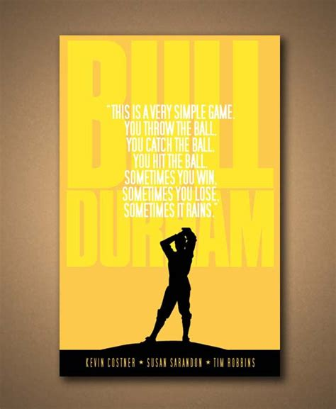 Poster Quote 008 bull durham quote poster by mancavesportssigns on etsy