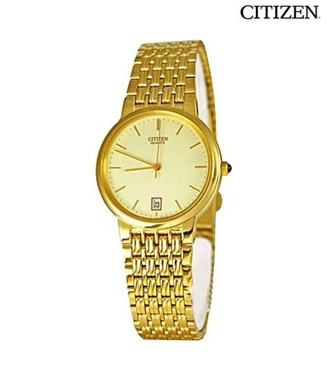 citizen gold date display available at snapdeal for