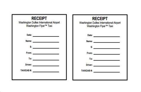 Blank Receipt Template 20 Free Word Excel Pdf Vector Eps Format Download Free Premium Taxi Receipt Template