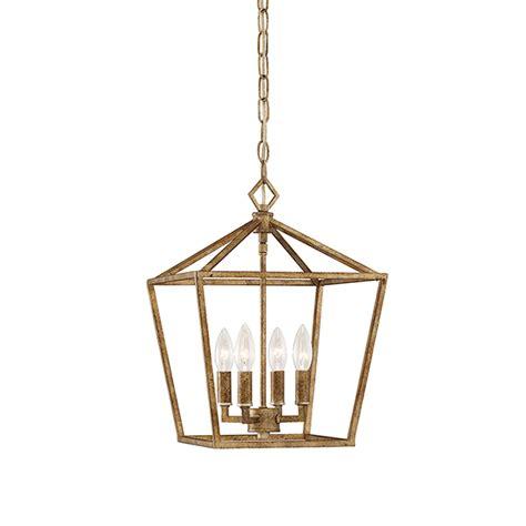 Millennium Lighting Vintage Gold 12 Inch Four Light Lantern Pendant Light Fixtures