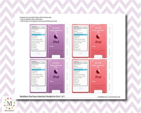 Apple Ipod Nano And Chocolate Gift Set Unboxed by Instant Ipod Nano Fundip Valentines Printable
