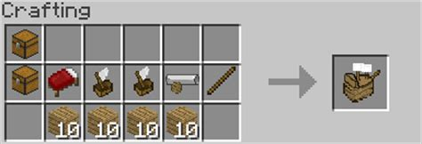 minecraft boat recipe boats and trading and a new crafting table suggestions