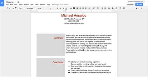 docs id card template best of how to create a resume template how to make a cv