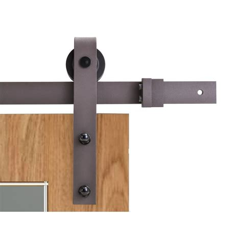 Barn Style Door Hardware Calhome 79 In Classic Bent Barn Style Sliding Door Track And Hardware Set Sdh Swd11 Ab 79
