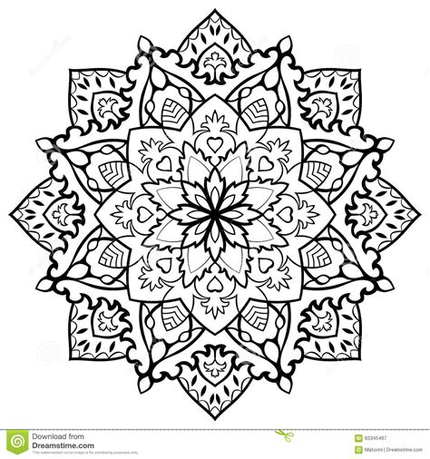 oriental filigree mandala stock vector illustration of