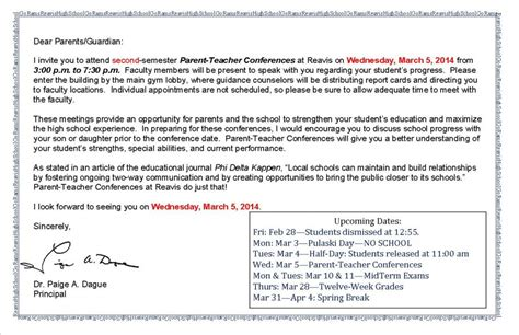 Parent Conference Invitation Letter Letter Inviting Parents To A Meeting Just B Cause