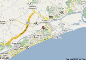 us map myrtle map of comfort inn myrtle myrtle