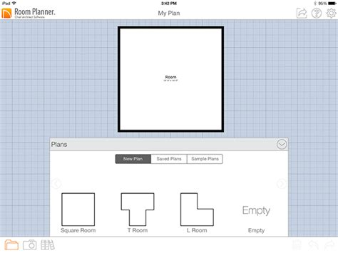 2d room planner starting a new project