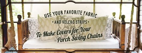 porch swing chain covers three great ideas for porch swing chain covers hammmade