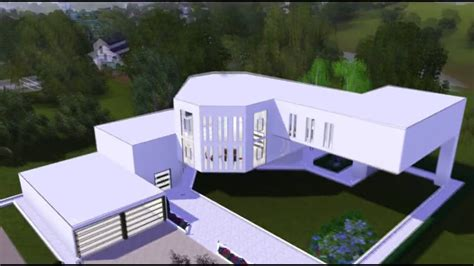 Very Simple House Floor Plans The Sims 3 House Ultra Modern Art Mansion Hd Youtube