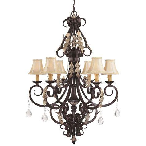 minka chandelier minka lavery bellasera 6 light castlewood walnut
