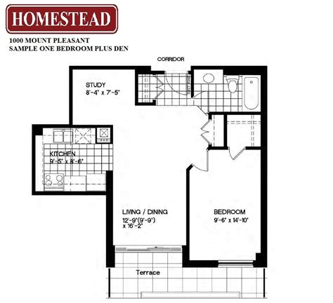 two bedroom plus den apartment floor plan oaks of lake george toronto apartments for rent at yonge eglinton 1000