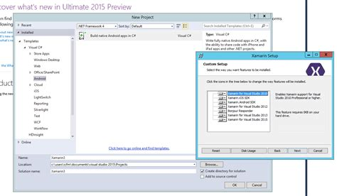 templates for visual studio 2015 visual studio 2015 no templates available xamarin forums