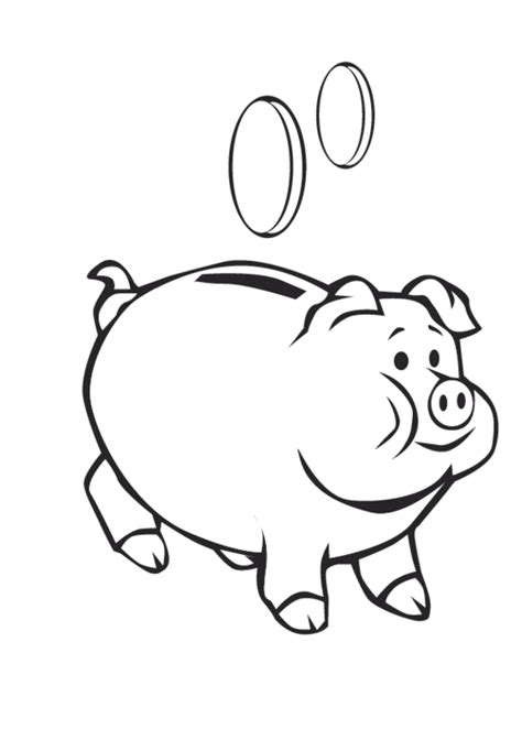 Cute Piggy Bank Coloring Page Coloring Pages Piggy Bank Coloring Page