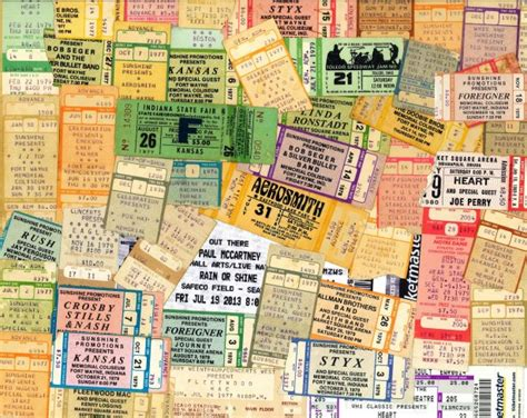 home tickets from the past