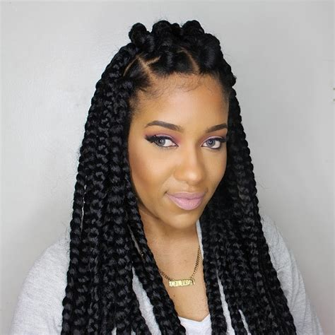 how to part hair for boxed braids how to jumbo box braids rubberband method youtube