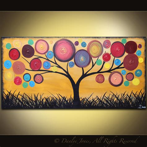 modern painting ideas modern abstract tree for sale made colorful paintings artbyluizavizoli pictify