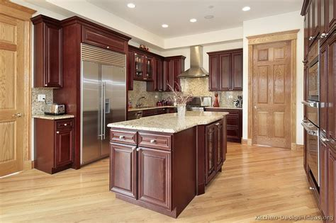 Cherry Color Kitchen Cabinets Pictures Of Kitchens Traditional Wood Kitchens Cherry Color Page 3