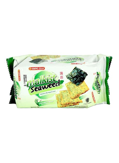 Khong Guan Malkist Seaweed 135gr by Khong Guan Crackers Malkist Seaweed Pck 135g Klikindomaret
