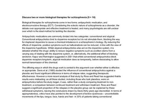 Schizophrenia Essay by Essays On Schizophrenia