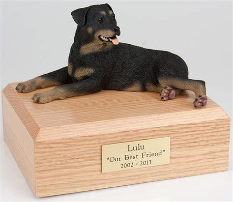 rottweiler cremation urn rottweiler cremation figurine urn w wooden storage box