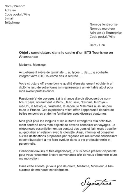 Stage Tourisme Lettre De Motivation Modele Lettre De Motivation Stage Tourisme Document