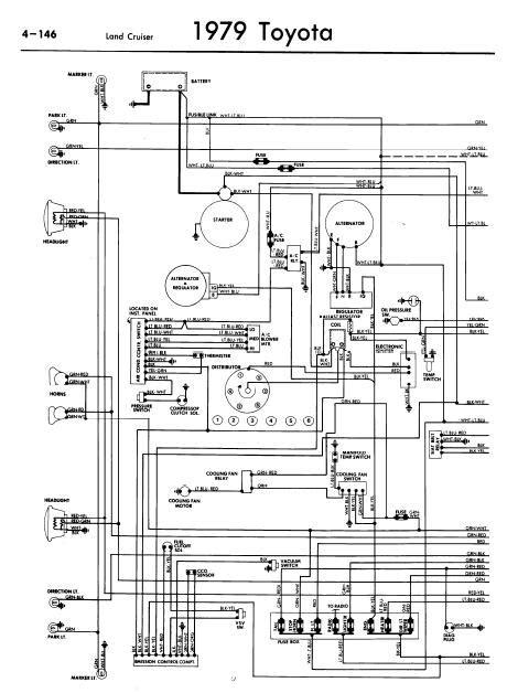 repair-manuals: Toyota Land Cruiser 1979 Wiring Diagrams