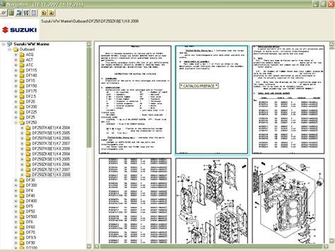 suzuki marine outboard  parts catalog order
