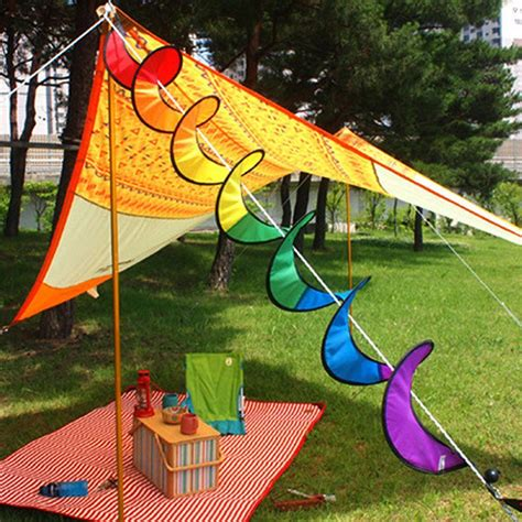 spiral rainbow wind spinner tent garden outdoor kite windsock garden yard outdoor decor