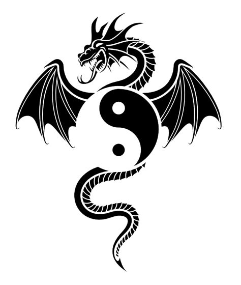 yin yang dragon tattoos yin yang tattoos png images transparent pictures png only