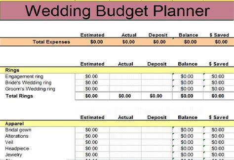 wedding budget spreadsheet wedding budget template budget templates