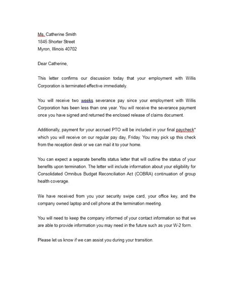 Cancellation Letter For Insurance Company health insurance termination letter template letter