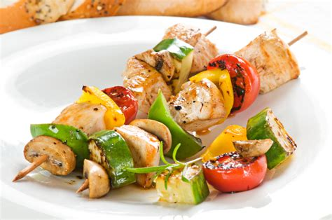 Recette Bar Grillé by Lemon Scallion Chicken And Vegetable Kabobs My Judy The