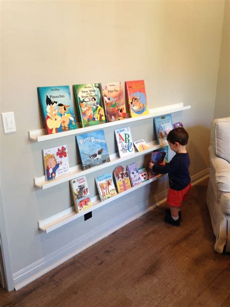 ikea picture ledge for books boys room on a budget