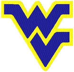 13 west virginia applique and filled logo machine embroidery design i