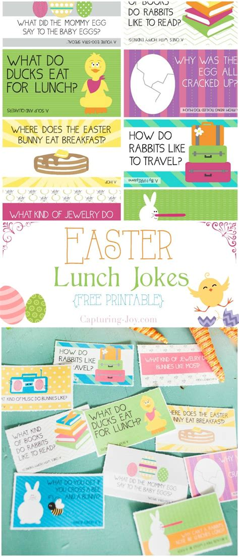 printable easter lunch box jokes 20 free easter printables for kids the home toby and roo
