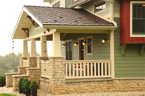 craftsman front porch bungalow landscape design home house design and