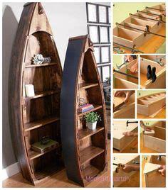 pallet boat bookshelf rockhton s thick concrete table table house ideas